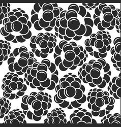 Blackberry black berries on white background vector