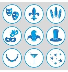Carnival icon set vector