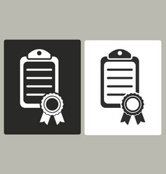 certificate - icon vector image
