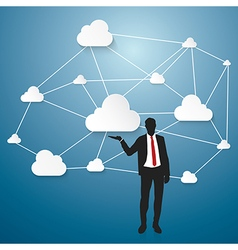 Cloud Computing Working vector image