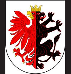 Coat of arms of kuyavian-pomeranian voivodeship vector