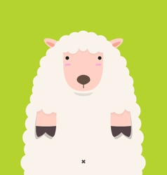 cute fat big lamb vector image vector image