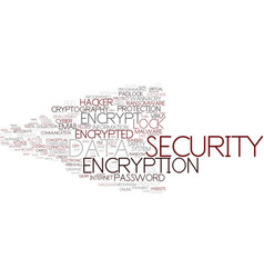Encrypt word cloud concept vector