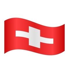 Flag of switzerland waving vector