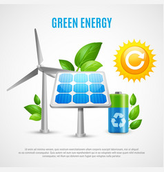 Green energy realistic vector