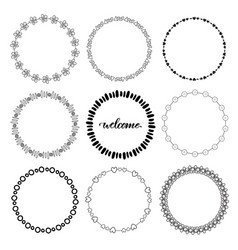 hand drawn doodle frames decorative elements vector image