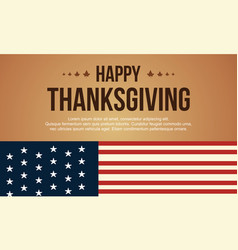 Happy thanksgiving celebration background style vector