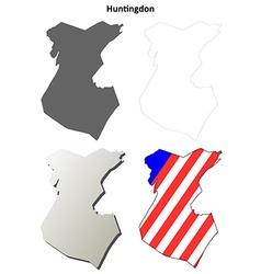 Huntingdon map icon set vector