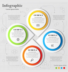 Infographic with four elements vector