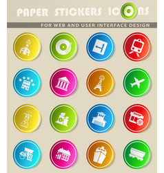 infrastructure icon set vector image