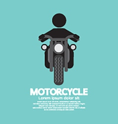Man Riding A Motorcycles Symbol vector image