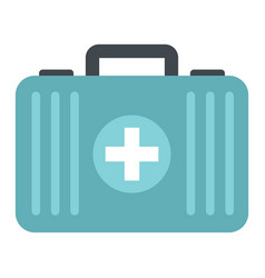 Medicine flat suitcase isolated on white vector