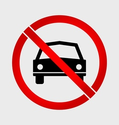 No Car or No Parking prohibition sign vector image