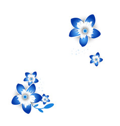 Paper cut style of bright flowers fo banner vector