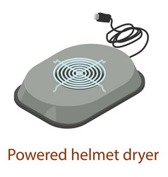 powered helmet icon isometric 3d style vector image