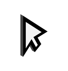 Replacement cursor icon isometric 3d style vector image