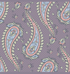 seamless pattern paisley ornamental background vector image vector image