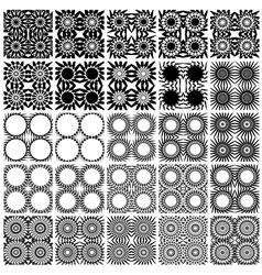 Set of 25 seamless patterns vector image vector image