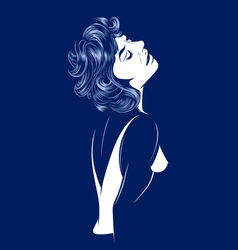 sexy glamour women vector image