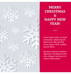 Snowflake NewYear Card vector image