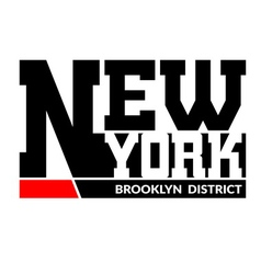 T shirt typography new york brooklyn vector