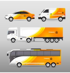 Transport advertisement design vector