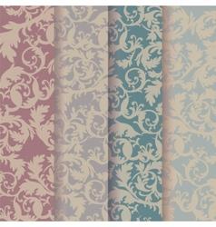 Vintage Baroque Ornaments Pattern set vector image vector image