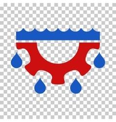 Water gear drops icon vector