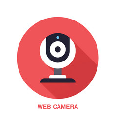 web camera flat style icon wireless technology vector image