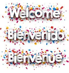 Welcome paper banner vector