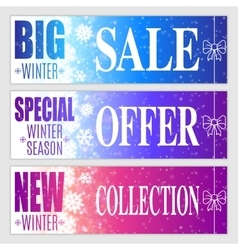 Winter sale banners vector