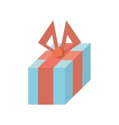 Gift box decoration traditional bow vector