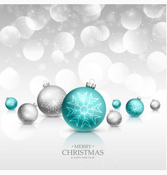 Christmas celebration greeting card with vector