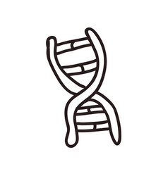 Dna doodle cartoon vector