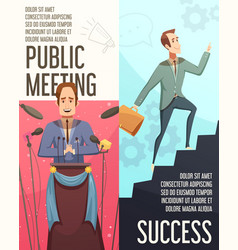 business meeting banners set vector image