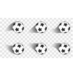 Soccer ball football shot isolated on a vector