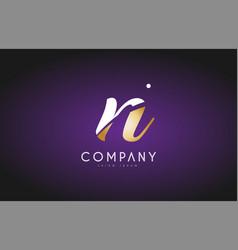 N alphabet letter gold golden logo icon design vector