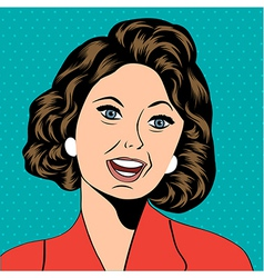 Pop art of a laughing woman vector