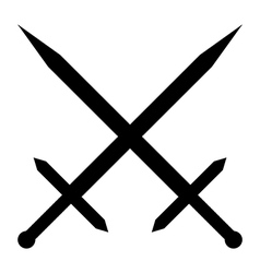 Crossed swords icon vector