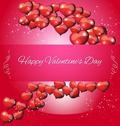 Greeting card valentines day vector