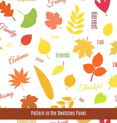 Realistic autumn leaves seamless pattern vector