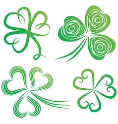 green shamrocks vector image