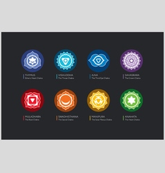 Chakras set vector image