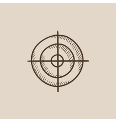 Shooting target sketch icon vector