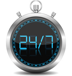 24x7 Concept vector image