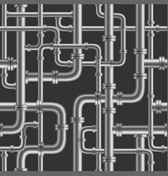 black pipe seamless vector image