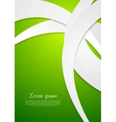 Bright green corporate wavy design vector image vector image