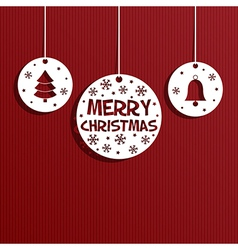 christmas paper decoration vector image vector image