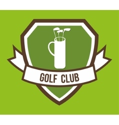 Clubs of golf sport design vector
