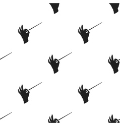 Conductor orchestra icon in black style isolated vector
